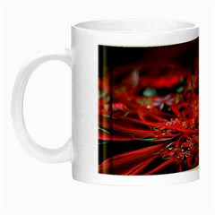 Red Fractal Valley In 3d Glass Frame Night Luminous Mugs
