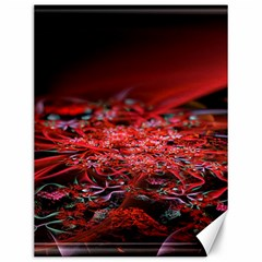 Red Fractal Valley In 3d Glass Frame Canvas 12  x 16