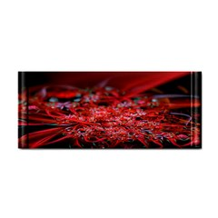 Red Fractal Valley In 3d Glass Frame Cosmetic Storage Cases