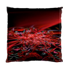 Red Fractal Valley In 3d Glass Frame Standard Cushion Case (One Side)
