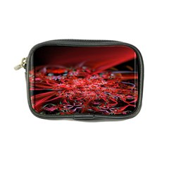 Red Fractal Valley In 3d Glass Frame Coin Purse