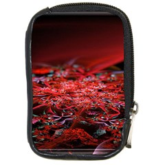 Red Fractal Valley In 3d Glass Frame Compact Camera Cases