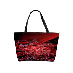 Red Fractal Valley In 3d Glass Frame Shoulder Handbags