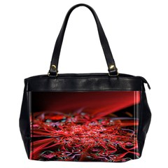 Red Fractal Valley In 3d Glass Frame Office Handbags (2 Sides)