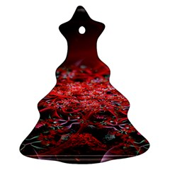 Red Fractal Valley In 3d Glass Frame Ornament (Christmas Tree)