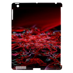 Red Fractal Valley In 3d Glass Frame Apple iPad 3/4 Hardshell Case (Compatible with Smart Cover)