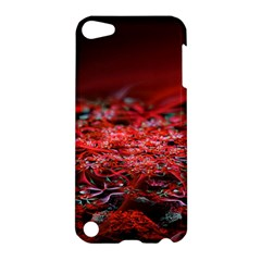 Red Fractal Valley In 3d Glass Frame Apple Ipod Touch 5 Hardshell Case