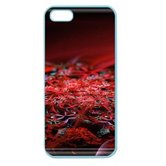 Red Fractal Valley In 3d Glass Frame Apple Seamless iPhone 5 Case (Color)