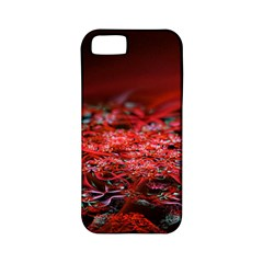 Red Fractal Valley In 3d Glass Frame Apple Iphone 5 Classic Hardshell Case (pc+silicone)