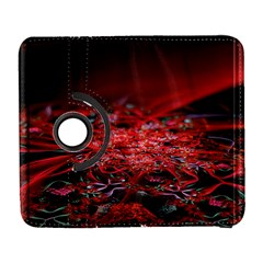 Red Fractal Valley In 3d Glass Frame Galaxy S3 (Flip/Folio)