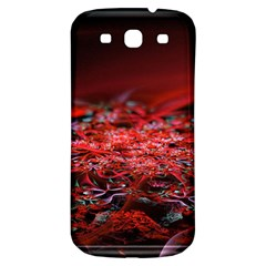 Red Fractal Valley In 3d Glass Frame Samsung Galaxy S3 S Iii Classic Hardshell Back Case