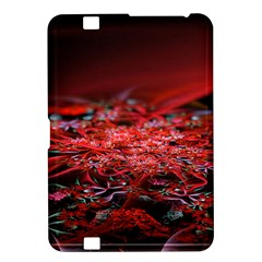 Red Fractal Valley In 3d Glass Frame Kindle Fire HD 8.9