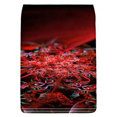 Red Fractal Valley In 3d Glass Frame Flap Covers (S)