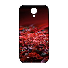 Red Fractal Valley In 3d Glass Frame Samsung Galaxy S4 I9500/i9505  Hardshell Back Case