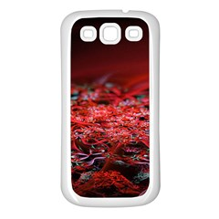 Red Fractal Valley In 3d Glass Frame Samsung Galaxy S3 Back Case (white)