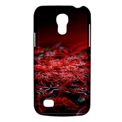 Red Fractal Valley In 3d Glass Frame Galaxy S4 Mini