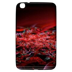 Red Fractal Valley In 3d Glass Frame Samsung Galaxy Tab 3 (8 ) T3100 Hardshell Case