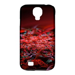 Red Fractal Valley In 3d Glass Frame Samsung Galaxy S4 Classic Hardshell Case (PC+Silicone)