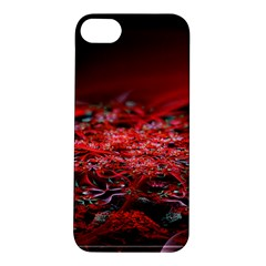 Red Fractal Valley In 3d Glass Frame Apple Iphone 5s/ Se Hardshell Case