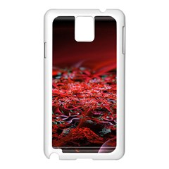 Red Fractal Valley In 3d Glass Frame Samsung Galaxy Note 3 N9005 Case (white)