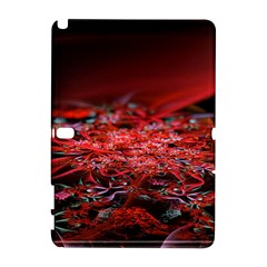 Red Fractal Valley In 3d Glass Frame Galaxy Note 1