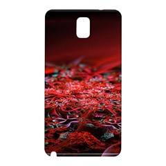 Red Fractal Valley In 3d Glass Frame Samsung Galaxy Note 3 N9005 Hardshell Back Case