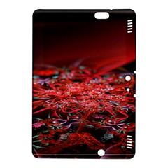 Red Fractal Valley In 3d Glass Frame Kindle Fire Hdx 8 9  Hardshell Case