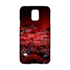 Red Fractal Valley In 3d Glass Frame Samsung Galaxy S5 Hardshell Case
