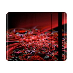 Red Fractal Valley In 3d Glass Frame Samsung Galaxy Tab Pro 8 4  Flip Case