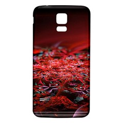 Red Fractal Valley In 3d Glass Frame Samsung Galaxy S5 Back Case (white)