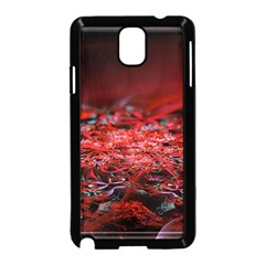 Red Fractal Valley In 3d Glass Frame Samsung Galaxy Note 3 Neo Hardshell Case (black)