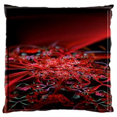 Red Fractal Valley In 3d Glass Frame Large Flano Cushion Case (Two Sides)