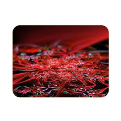 Red Fractal Valley In 3d Glass Frame Double Sided Flano Blanket (mini)