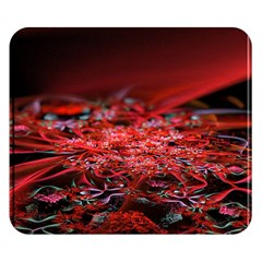 Red Fractal Valley In 3d Glass Frame Double Sided Flano Blanket (small)