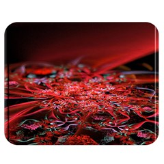 Red Fractal Valley In 3d Glass Frame Double Sided Flano Blanket (medium)