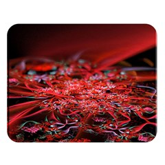 Red Fractal Valley In 3d Glass Frame Double Sided Flano Blanket (large)