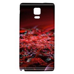 Red Fractal Valley In 3d Glass Frame Galaxy Note 4 Back Case