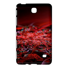 Red Fractal Valley In 3d Glass Frame Samsung Galaxy Tab 4 (8 ) Hardshell Case