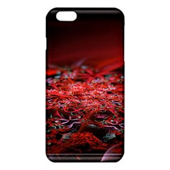 Red Fractal Valley In 3d Glass Frame iPhone 6 Plus/6S Plus TPU Case