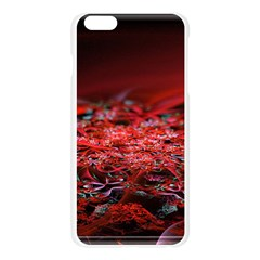 Red Fractal Valley In 3d Glass Frame Apple Seamless iPhone 6 Plus/6S Plus Case (Transparent)