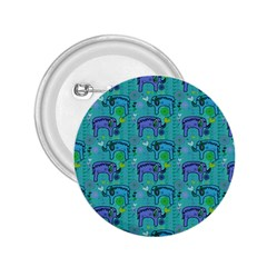 Elephants Animals Pattern 2.25  Buttons
