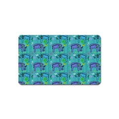 Elephants Animals Pattern Magnet (name Card)