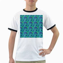Elephants Animals Pattern Ringer T-Shirts