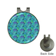 Elephants Animals Pattern Hat Clips With Golf Markers
