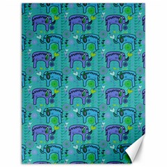 Elephants Animals Pattern Canvas 12  x 16