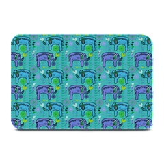 Elephants Animals Pattern Plate Mats