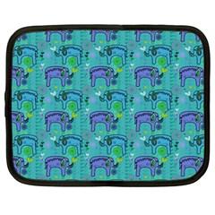 Elephants Animals Pattern Netbook Case (large)