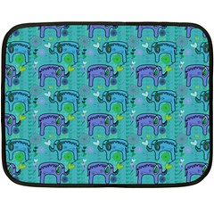 Elephants Animals Pattern Double Sided Fleece Blanket (mini)