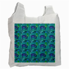 Elephants Animals Pattern Recycle Bag (one Side)