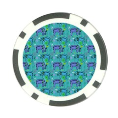 Elephants Animals Pattern Poker Chip Card Guard (10 pack)